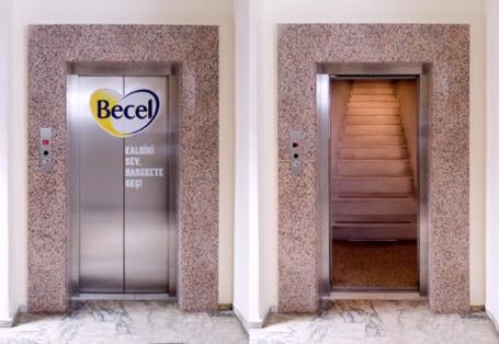 A marca de margarina Becel acertou em cheio ao sugerir que as pessoas troquem o elevador por escadas sempre que puderem. Quem assina é a Lowe, de Istambul.